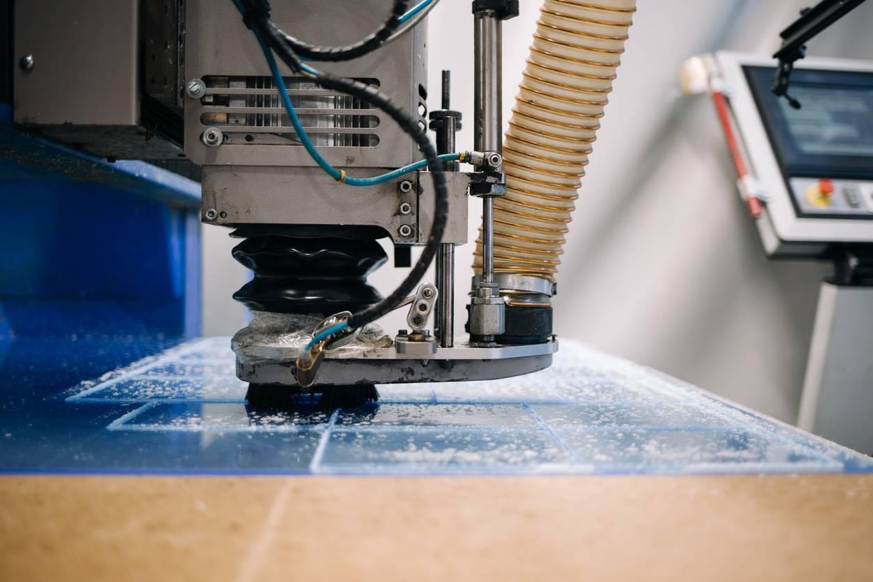 matériel de découpe industrielle textile