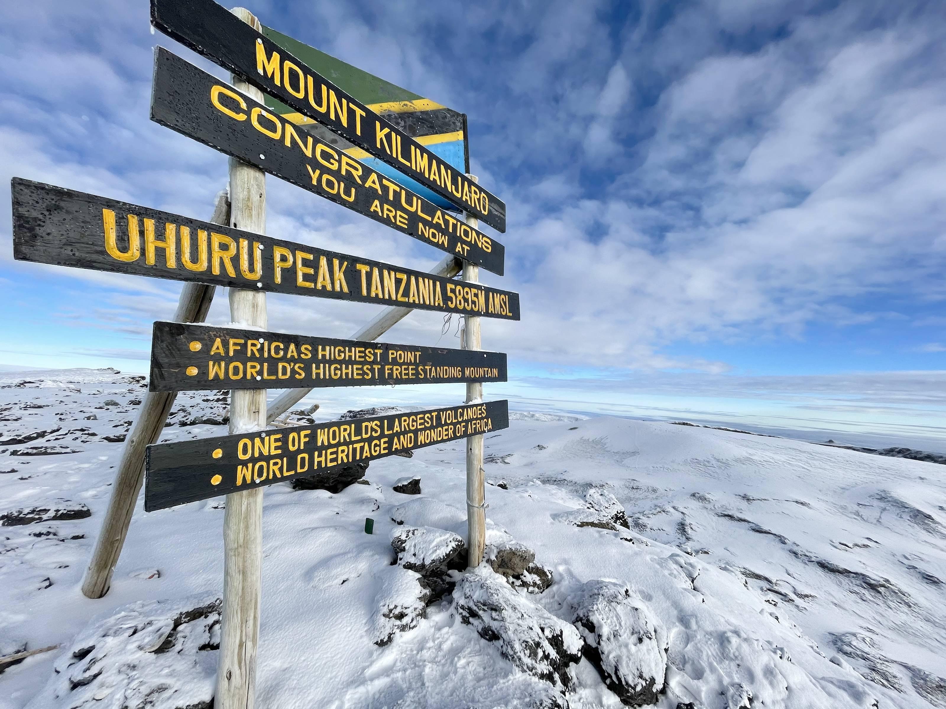 itinéraire Kilimandjaro