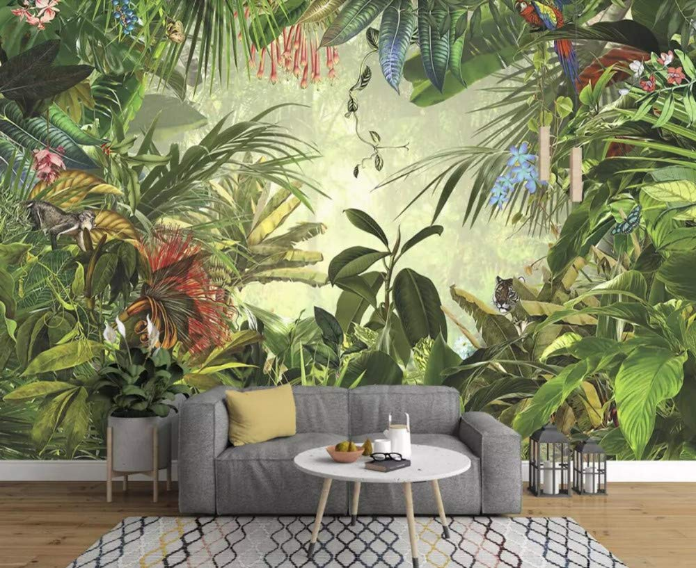 papier peint tropical pour chambre